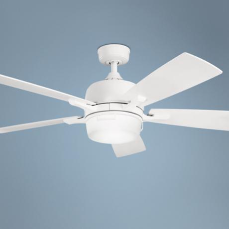 "52"" Kichler Leeds Satin White ENERGY STAR® Ceiling Fan"