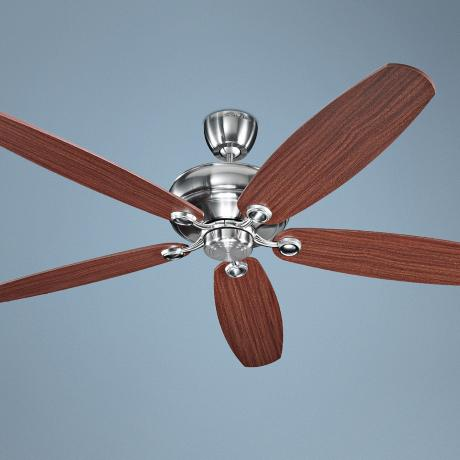 "68"" Monte Carlo Brushed Steel Embassy Ceiling Fan"