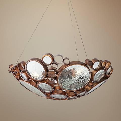 "Varaluz Fascination 20"" Wide Hammered Ore Pendant Light"