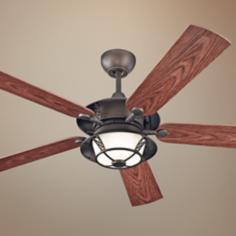"52"" Monte Carlo Burnet Outdoor Ceiling Fan with Light"