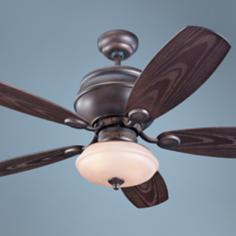 "52"" Monte Carlo Weatherstar Wet Ceiling Fan with Light Kit"