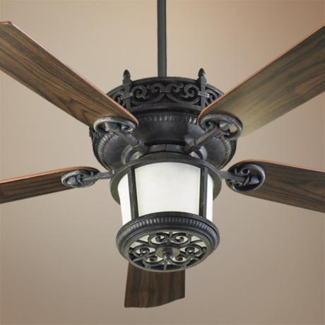 "52"" Quorum Marbella Charcoal Finish Ceiling Fan"