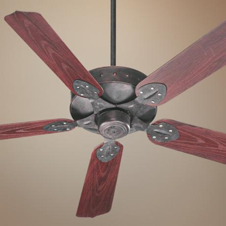 "52"" Quorum Hudson Toasted Sienna Patio Ceiling Fan"