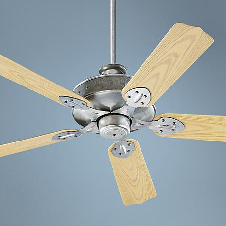"52"" Quorum Hudson Galvanized Patio Ceiling Fan"