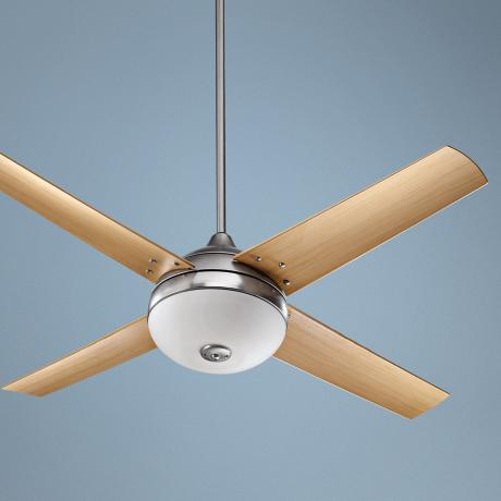 "52"" Quorum Orbit Patio Satin Nickel Ceiling Fan"