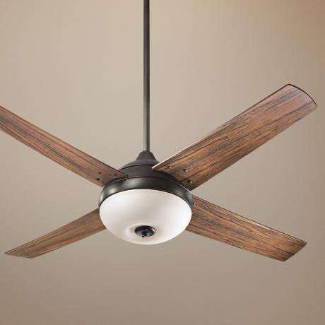 "52"" Quorum Orbit Patio Oiled Bronze Ceiling Fan"