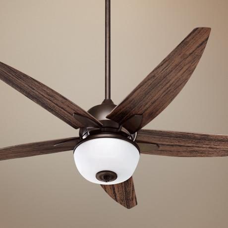 "52"" Quorum Rockwall Patio Oiled Bronze Ceiling Fan"