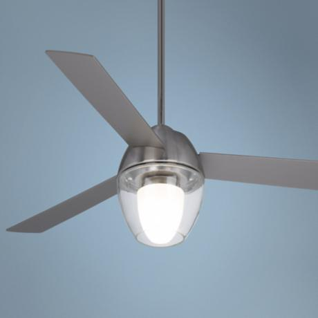 "54"" Casa Vieja® Tracker Brushed Nickel Ceiling Fan"