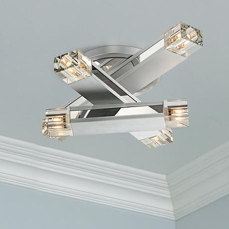 Possini Euro Design Three Stacked Rods Ceiling Light Fixture