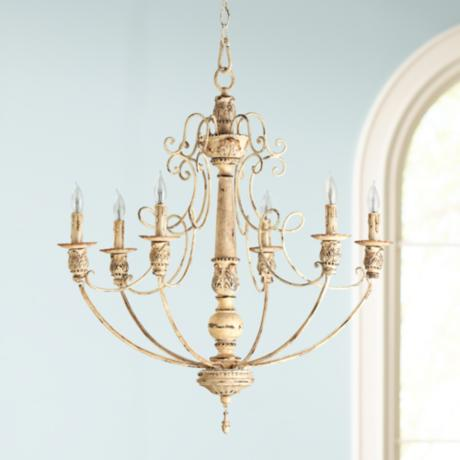 "Quorum Salento 6-Light 27"" Wide Persian White Chandelier"