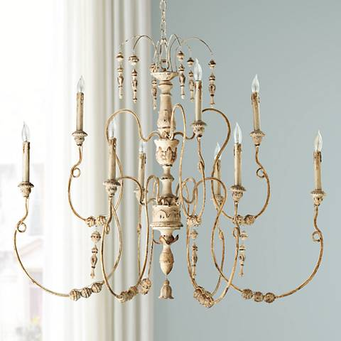 "Quorum Salento 9-Light 40 1/2"" Wide White Chandelier"