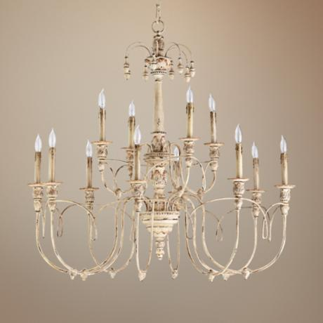 "Quorum Salento 12-Light 39"" Wide Persian White Chandelier"