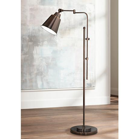 OTT-LITE Provo Oil-Rubbed Bronze Adjustable Floor Lamp