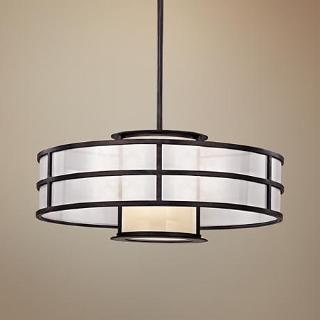 "Discus 24"" Wide Graphite Pendant Light"