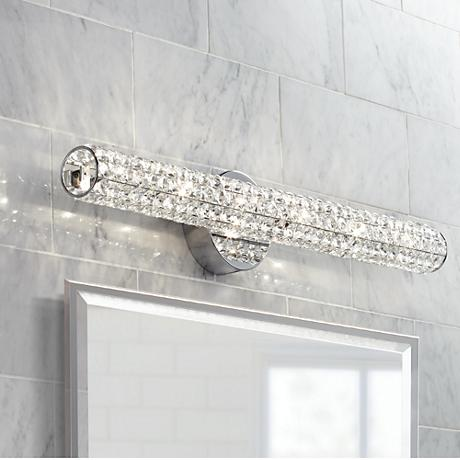"Vienna Full Spectrum Crystal Bar 27 1/2"" Wide Bath Fixture"