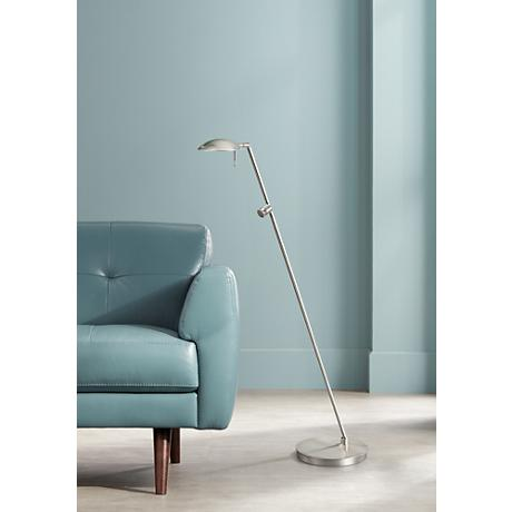 Nickel Bernie Turbo LED Tilt Base Holtkoetter Floor Lamp