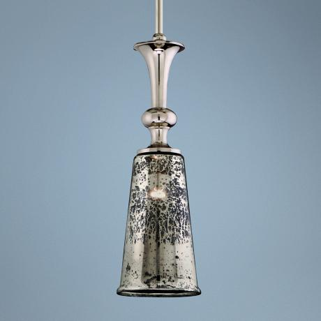 "Argento Nickel 6 3/4"" Wide Corbett Mini Pendant Light"