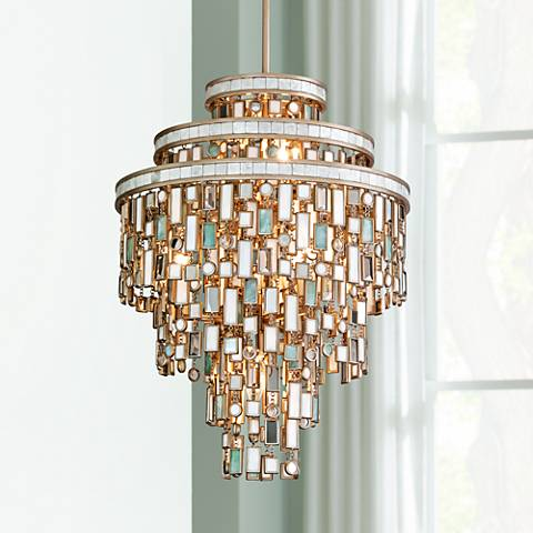 "Dolcetti Silver 18"" Wide Corbett Pendant Light"
