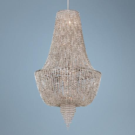 "Vixen Polished Nickel 44 1/2"" High Corbett Pendant Light"