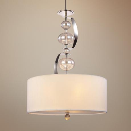 "Fizz 3-Light 21"" Wide Polished Nickel Pendant Light"