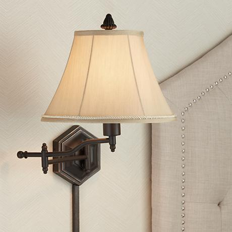Hexagon Swing Arm Plug-In Wall Lamp