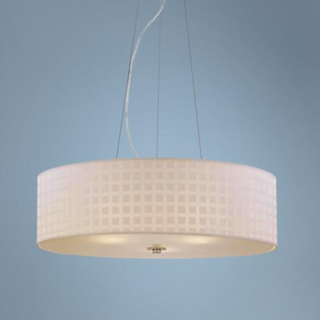 "Lite Source 28"" Wide 3-Light Chrome Pendant Light"
