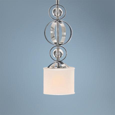 Cerchi Chrome and Etched Opal Glass Mini Pendant Light