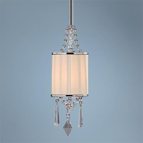 "Echelon Bridal Shade and Crystals 5 1/2"" Mini Pendant Light"