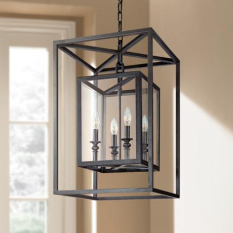 "Morgan 4-Light 16"" Wide Deep Bronze Pendant Light"