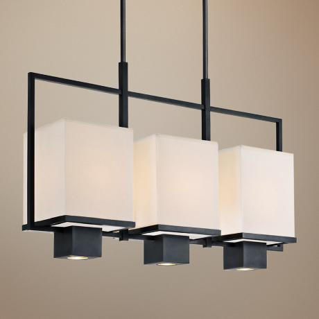 "Sonnemann Metro Black 33 1/2"" Wide Modern Pendant Light"