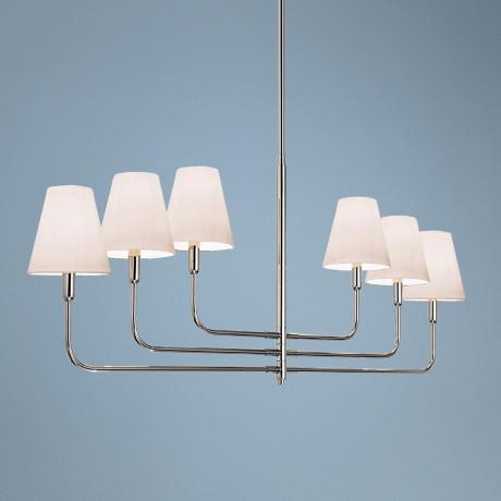 "Sonnemann Tempo 54 1/2"" Wide Nickel Modern Chandelier"