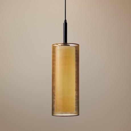 "Sonnemann Puri 5"" Wide Black Brass Mini Pendant Light"