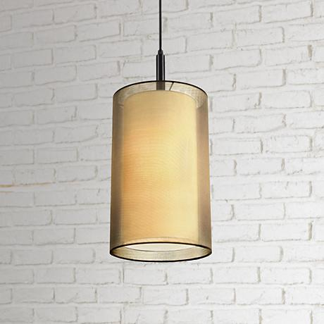 Sonneman Puri 9 Quot Wide Brass Organza Mini Pendant Light