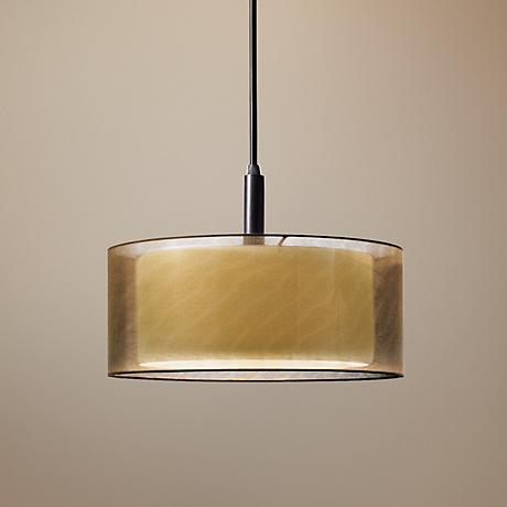 "Sonneman Puri 10"" Wide Black Brass Mini Pendant Light"