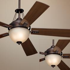 "52"" Casa Vieja Sequoia Damp Bronze Ceiling Fan with Light"