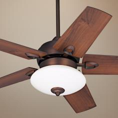 "44"" Casa Solano Oil Brushed Bronze Ceiling Fan with Light"