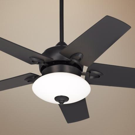 "44"" Casa Vieja Solano Matte Black Ceiling Fan with Light Kit"