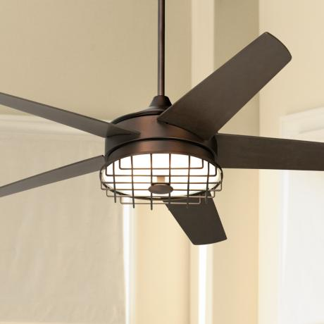 "60"" Possini Euro Edge II Oil-Rubbed Bronze Ceiling Fan"