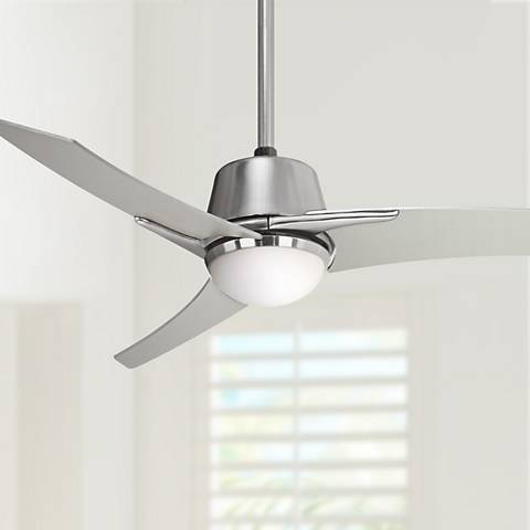 "Casa Vieja Matrix® 48"" Brushed Nickel Ceiling Fan with Light"