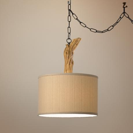 National Geographic Driftwood Pendant Swag Light