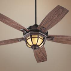 "52"" Quorum Belvedere Sienna Patio Ceiling Fan with Light Kit"