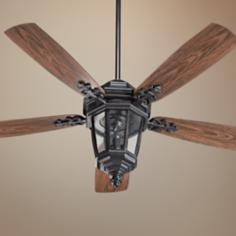 "52"" Quorum Dimone Old World Patio Ceiling Fan with Light Kit"