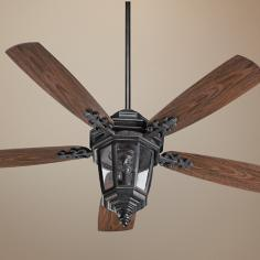 "52"" Quorum Dimone Sienna Patio Ceiling Fan with Light Kit"
