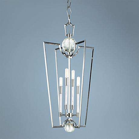 "Hudson Valley Waterloo 33 1/2"" High Polished Nickel Pendant"