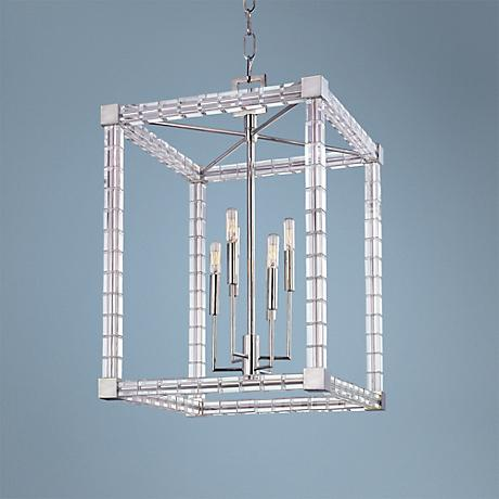 "Hudson Valley Alpine 18 1/2"" Wide Polished Nickel Chandelier"
