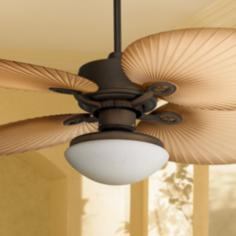 "52"" Casa Vieja Aerostat Wide Palm Blades Outdoor Ceiling Fan"