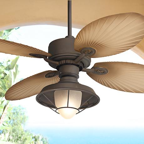 "52"" Casa Vieja Aerostat Palm Outdoor Ceiling Fan"