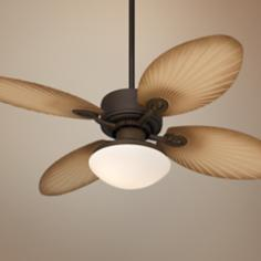 "52"" Casa Vieja Aerostat Palm Blades Outdoor Ceiling Fan"