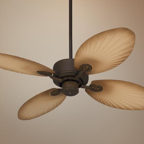 "52"" Casa Vieja Aerostat Palm Bronze Outdoor Ceiling Fan"