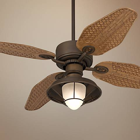 "52"" Casa Vieja Aerostat Weave Outdoor Ceiling Fan"